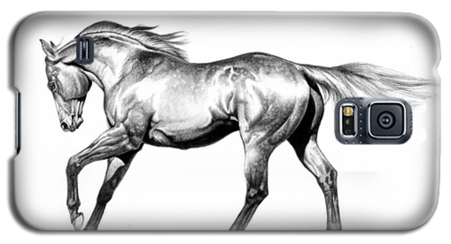 Thoroughbred Galaxy S5 Case featuring the drawing Proud by Howard Dubois