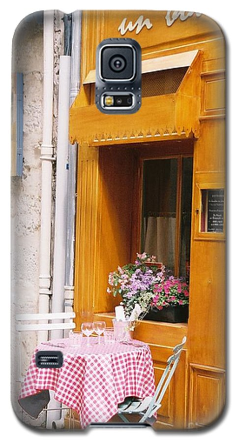 Cafe Galaxy S5 Case featuring the photograph Provence Cafe by Nadine Rippelmeyer