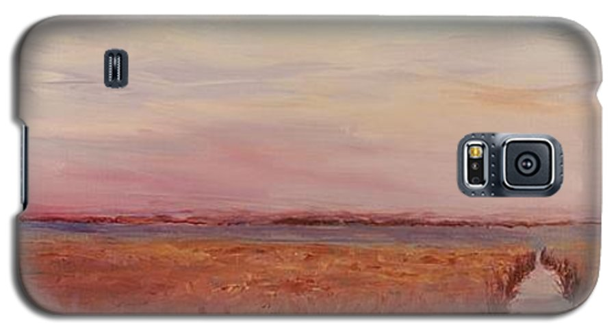 Landscape Galaxy S5 Case featuring the painting Provence Camargue by Nadine Rippelmeyer