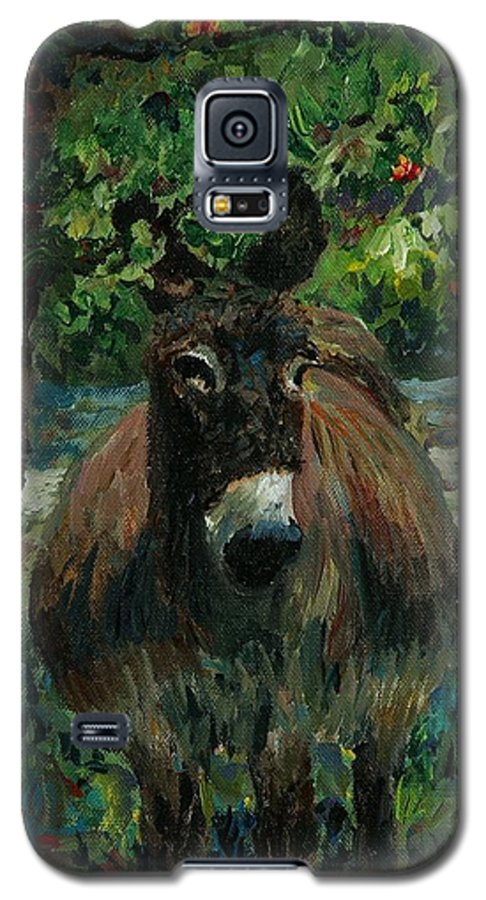 Donkey Galaxy S5 Case featuring the painting Provence Donkey by Nadine Rippelmeyer