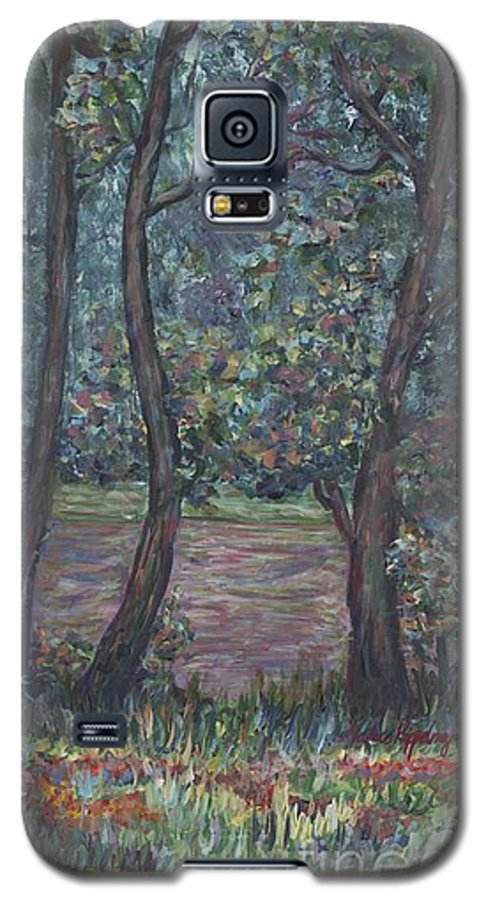 Landscape Galaxy S5 Case featuring the painting Provence Flowers by Nadine Rippelmeyer