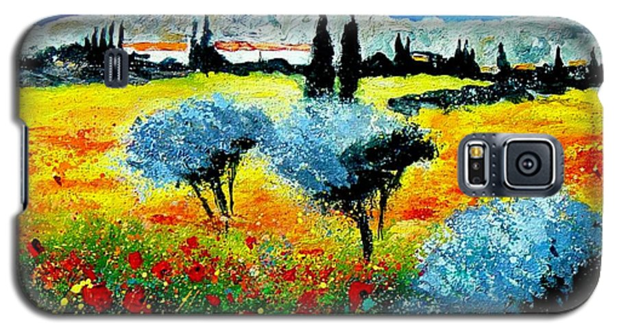 Poppies Galaxy S5 Case featuring the painting Provence by Pol Ledent