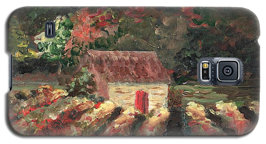 Landscape Galaxy S5 Case featuring the painting Provence Vineyard by Nadine Rippelmeyer