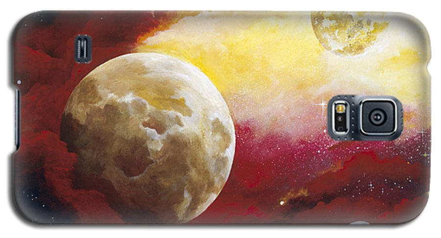 Space Galaxy S5 Case featuring the painting Psalm by Laura Swink