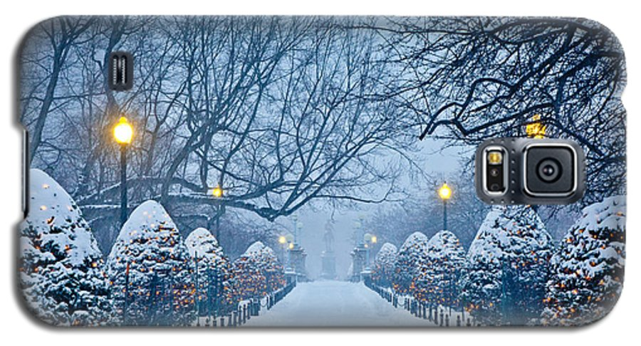 Back Bay Galaxy S5 Case featuring the photograph Public Garden Walk by Susan Cole Kelly