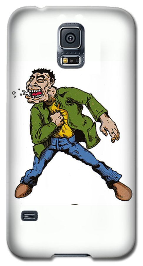 Illustration Galaxy S5 Case featuring the drawing Punch by Tobey Anderson