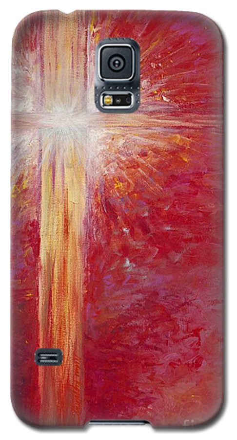 Light Galaxy S5 Case featuring the painting Pure Light by Nadine Rippelmeyer