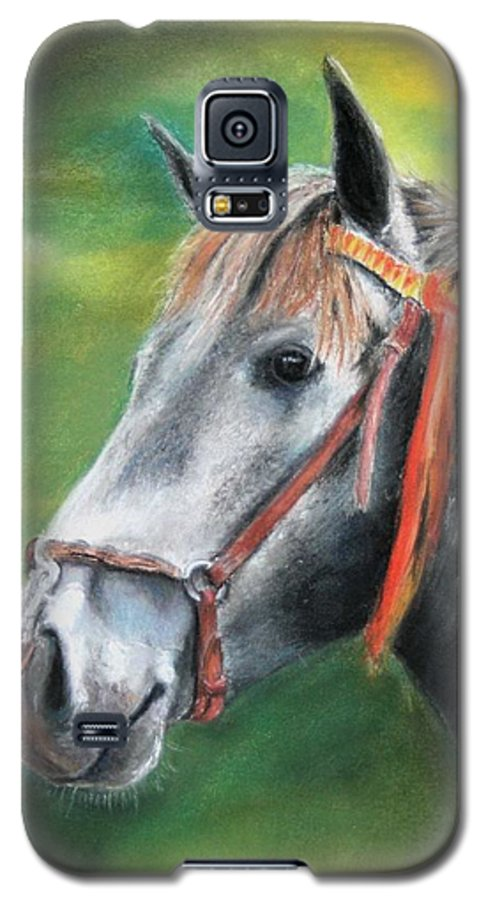 Horse Galaxy S5 Case featuring the painting Pure Spanish by Ceci Watson