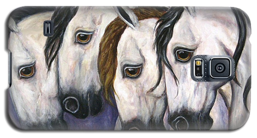 Horse Painting Galaxy S5 Case featuring the painting Purple Haze by Frances Gillotti