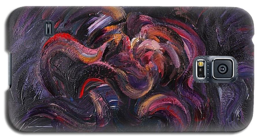 Purple Galaxy S5 Case featuring the painting Purple Passion by Nadine Rippelmeyer