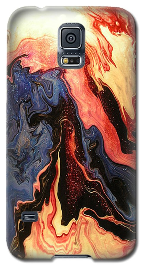 Abstract Galaxy S5 Case featuring the painting Pyroclastic by Patrick Mock