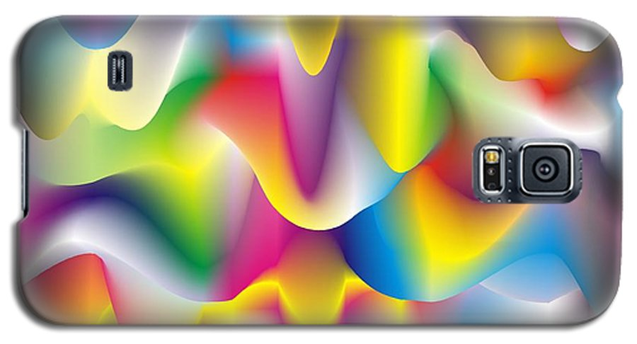 Abstract Galaxy S5 Case featuring the digital art Quantum Landscape 1 by Walter Oliver Neal
