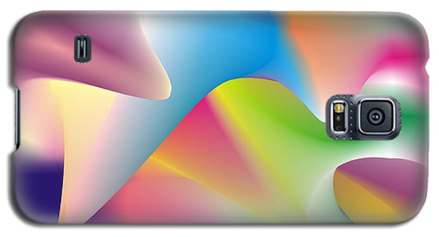Abstract Galaxy S5 Case featuring the digital art Quantum Landscape 2 by Walter Oliver Neal