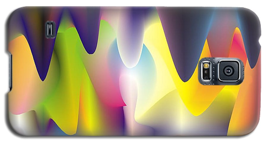 Abstract Galaxy S5 Case featuring the digital art Quantum Landscape 6 by Walter Oliver Neal