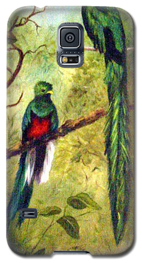 Landscape Galaxy S5 Case featuring the painting Quetzels by Anne Kushnick