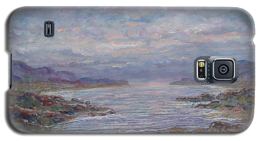 Painting Galaxy S5 Case featuring the painting Quiet Bay. by Leonard Holland