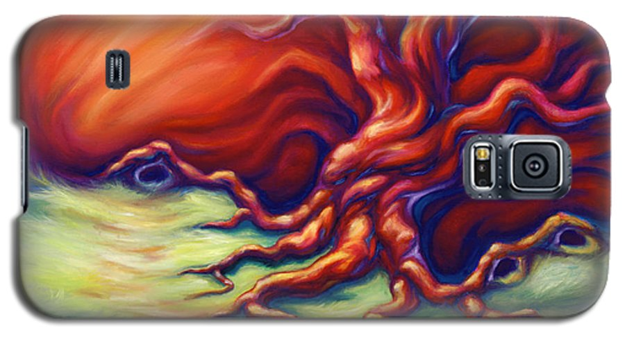 Oil Painting Galaxy S5 Case featuring the painting Quiet Place by Jennifer McDuffie