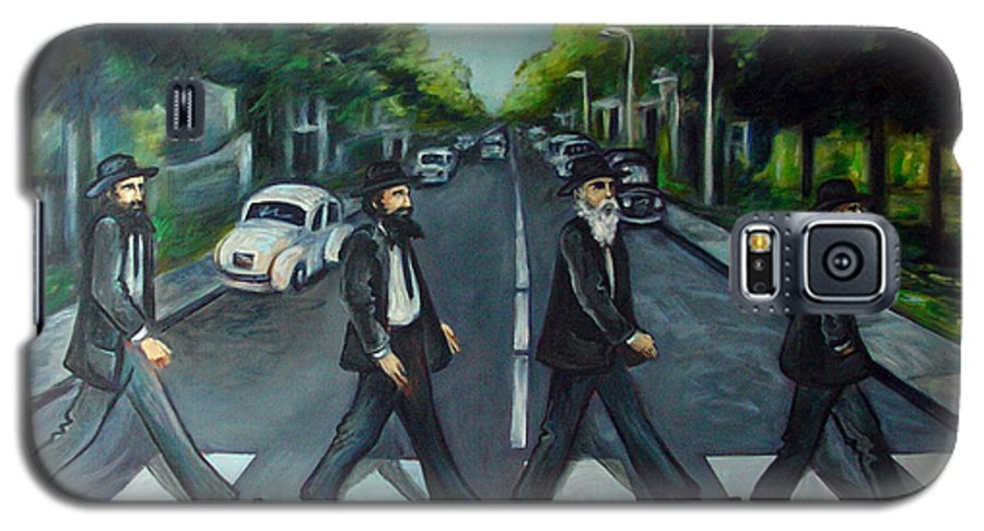 Surreal Galaxy S5 Case featuring the painting Rabbi Road by Valerie Vescovi