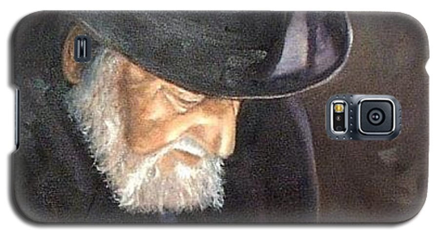 Portrait Galaxy S5 Case featuring the painting Rabbi by Toni Berry
