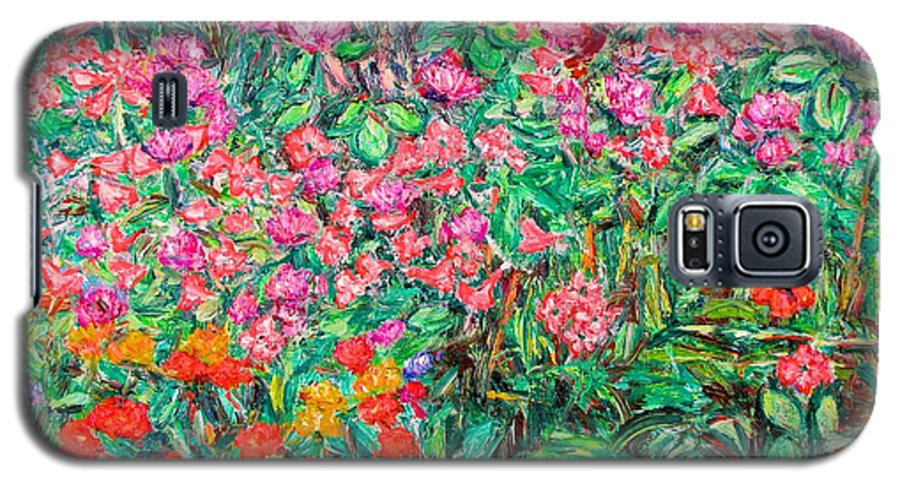 Kendall Kessler Galaxy S5 Case featuring the painting Radford Flower Garden by Kendall Kessler