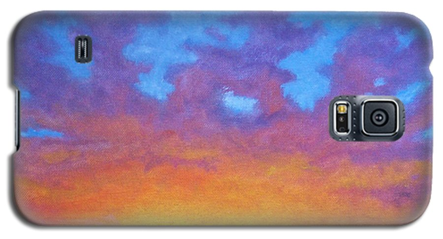 Landscape Galaxy S5 Case featuring the painting Radiance by Brian Commerford