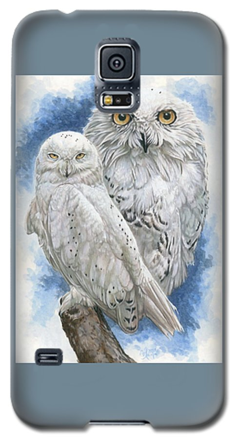 Snowy Owl Galaxy S5 Case featuring the mixed media Radiant by Barbara Keith