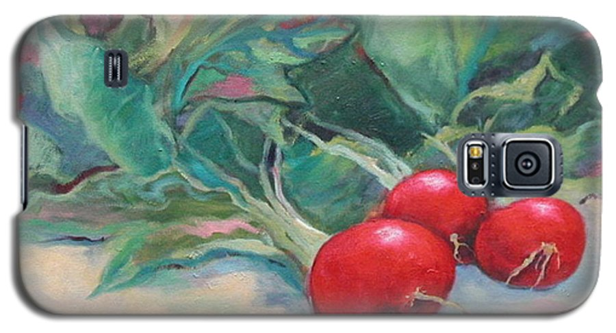 Radishes Galaxy S5 Case featuring the painting Radishes by Ginger Concepcion