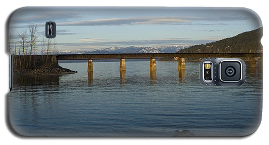 Bridge Galaxy S5 Case featuring the photograph Railroad Bridge Over The Pend Oreille by Idaho Scenic Images Linda Lantzy
