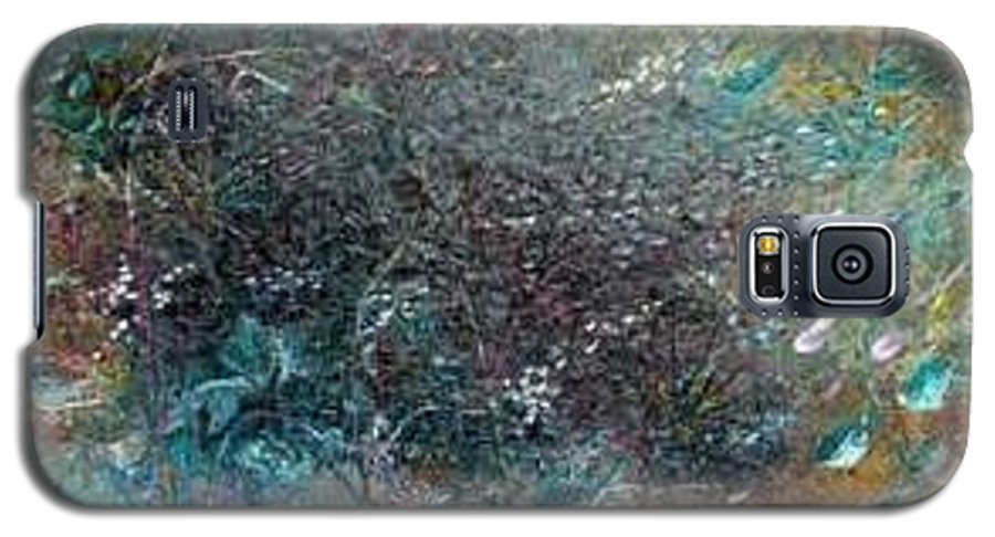 Original Abstract Painting Of Under The Sea Galaxy S5 Case featuring the painting Rainbow Reef by Karin Dawn Kelshall- Best