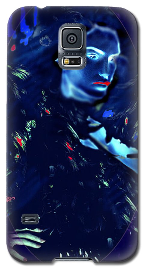 A Bizarre Evil Witch Flies With The Ravens Galaxy S5 Case featuring the digital art Raven Woman by Seth Weaver