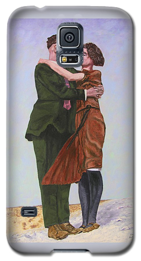 Double Portrait Galaxy S5 Case featuring the painting Ray And Isabel by Stan Hamilton