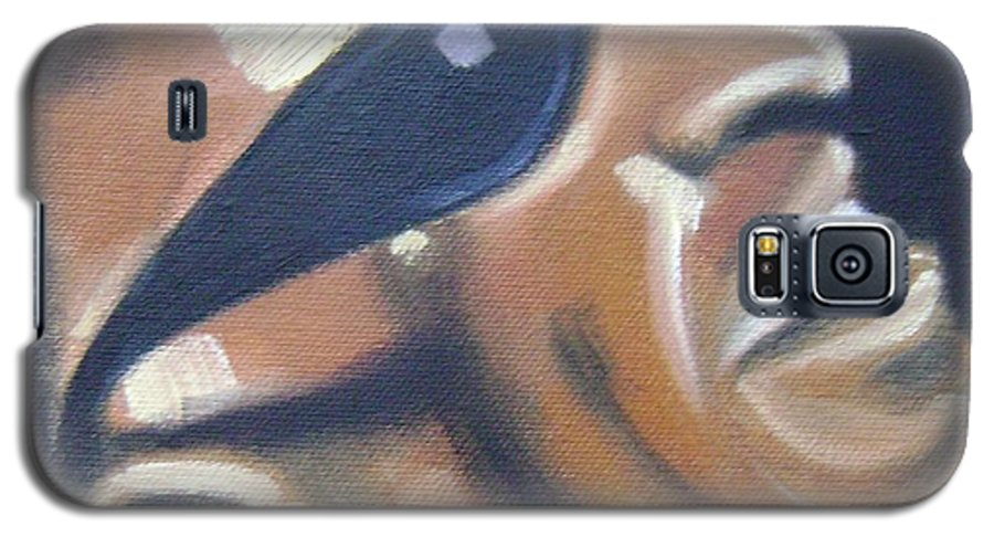 Ray Charles Galaxy S5 Case featuring the painting Ray Charles by Toni Berry