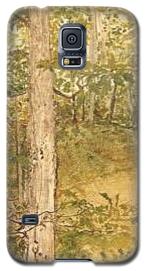 Trees Galaxy S5 Case featuring the painting Raystown Lake by Leah Tomaino