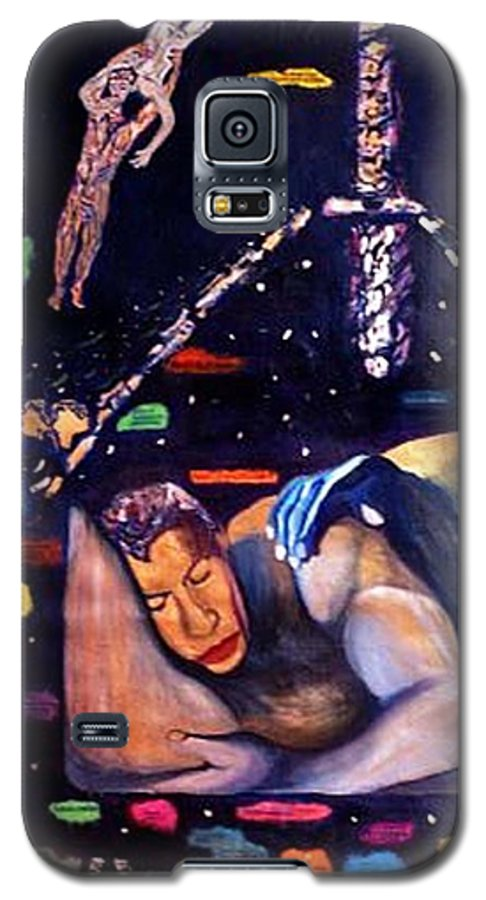 Nudes Galaxy S5 Case featuring the painting Realities Which Will Be Artifacts by Stephen Mead