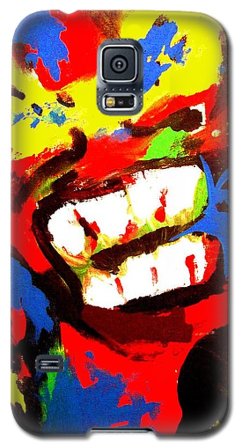 Teenager Galaxy S5 Case featuring the painting Rebel Rebel by Alan Hogan