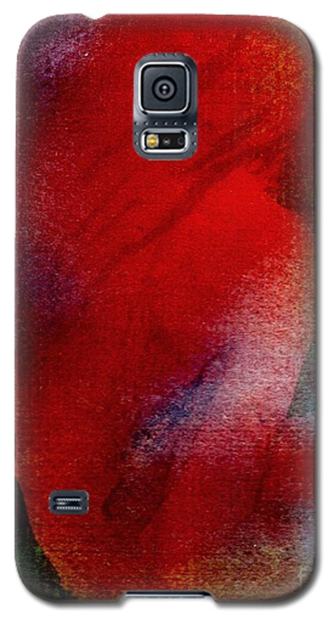 Nude Galaxy S5 Case featuring the painting Red Boudoir by Susan Kubes