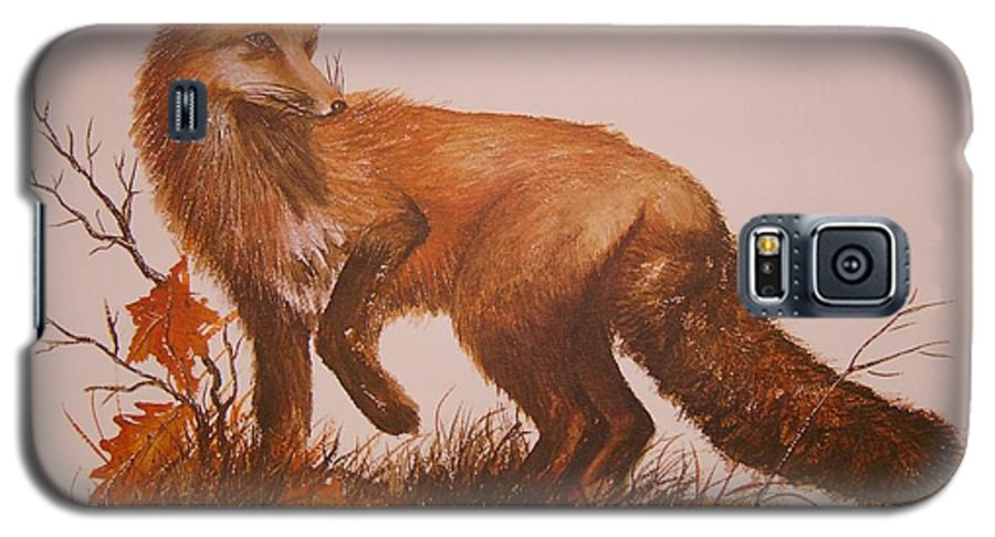 Nature Galaxy S5 Case featuring the painting Red Fox by Ben Kiger