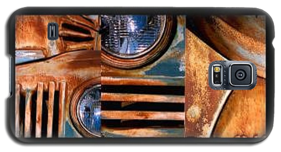 Abstract Photo Of Chevy Truck Galaxy S5 Case featuring the photograph Red Head On by Steve Karol