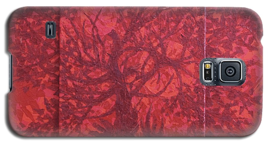 Red Galaxy S5 Case featuring the painting Red Planet by Judy Henninger