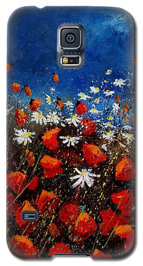 Flowers Galaxy S5 Case featuring the painting Red Poppies 451108 by Pol Ledent