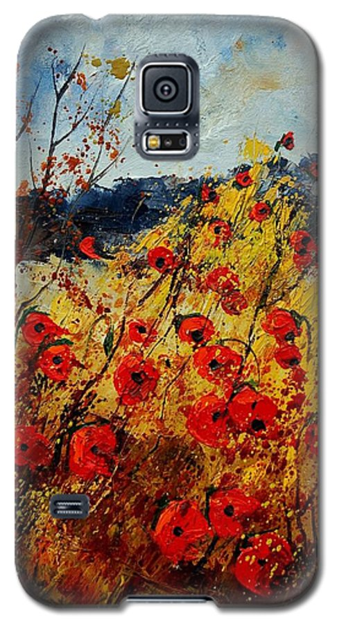 Poppies Galaxy S5 Case featuring the painting Red Poppies In Provence by Pol Ledent