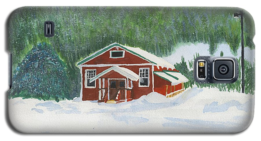 Schoolhouse Galaxy S5 Case featuring the painting Red School House by Louise Magno
