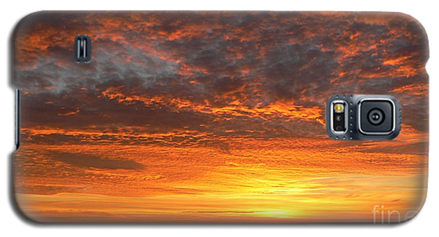 Northwest Galaxy S5 Case featuring the photograph Red Skies At Night by Larry Keahey