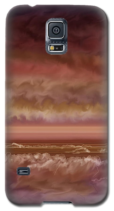 Sunset Galaxy S5 Case featuring the painting Red Sky At Night Sailor Delight by Anne Norskog