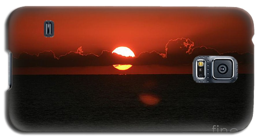 Sunset Galaxy S5 Case featuring the photograph Red Sunset Over The Atlantic by Nadine Rippelmeyer