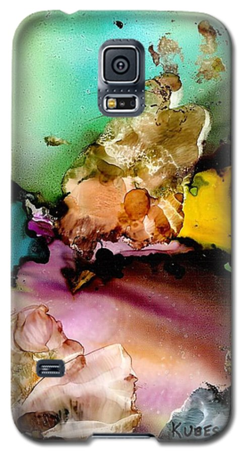 Reef Galaxy S5 Case featuring the mixed media Reef 3 by Susan Kubes