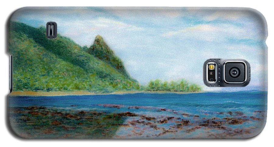 Rainbow Colors Pastel Galaxy S5 Case featuring the painting Reef Walk by Kenneth Grzesik