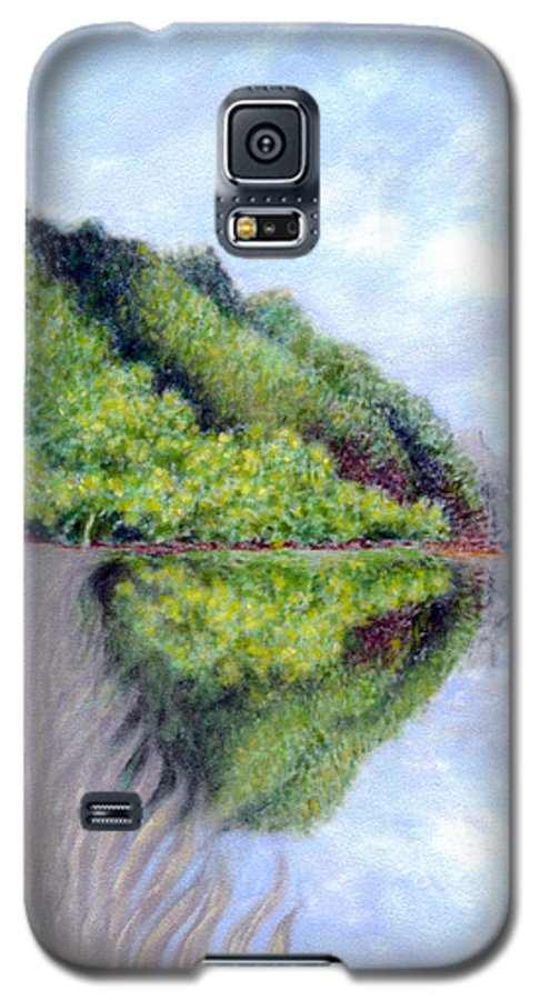 Coastal Decor Galaxy S5 Case featuring the painting Reflection by Kenneth Grzesik