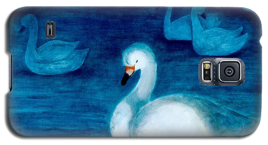Duck Galaxy S5 Case featuring the painting Reflections 1 by Jun Jamosmos