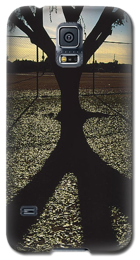 Tree Galaxy S5 Case featuring the photograph Reflections In A Park by Randy Oberg